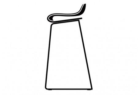 Tabouret de bar design en métal et bois
