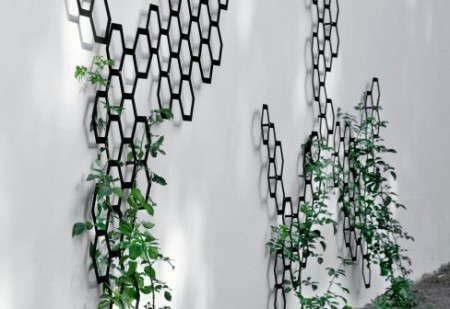 Trellis de jardin design avec des alvéoles octogonales Comb-ination