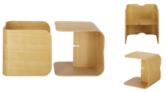 bureau et chaise dans un cube lock habitat. Black Bedroom Furniture Sets. Home Design Ideas