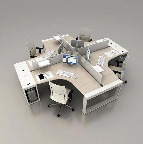 Bureau toile for Mobilier bureau 4 personnes