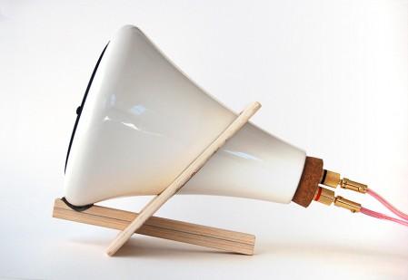 Haut parleur en porcelaine blanche Ceramic Speaker