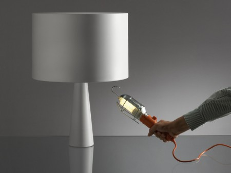 Lampe Cau avec baladeuse de chantier