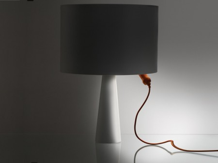 Lampe Danese Cau avec baladeuse orange