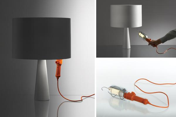 Danese Cau, lampe & baladeuse de chantier