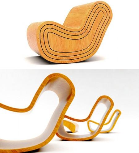 Magic chair par Dripta Roy, une chaise en bois 4 en 1