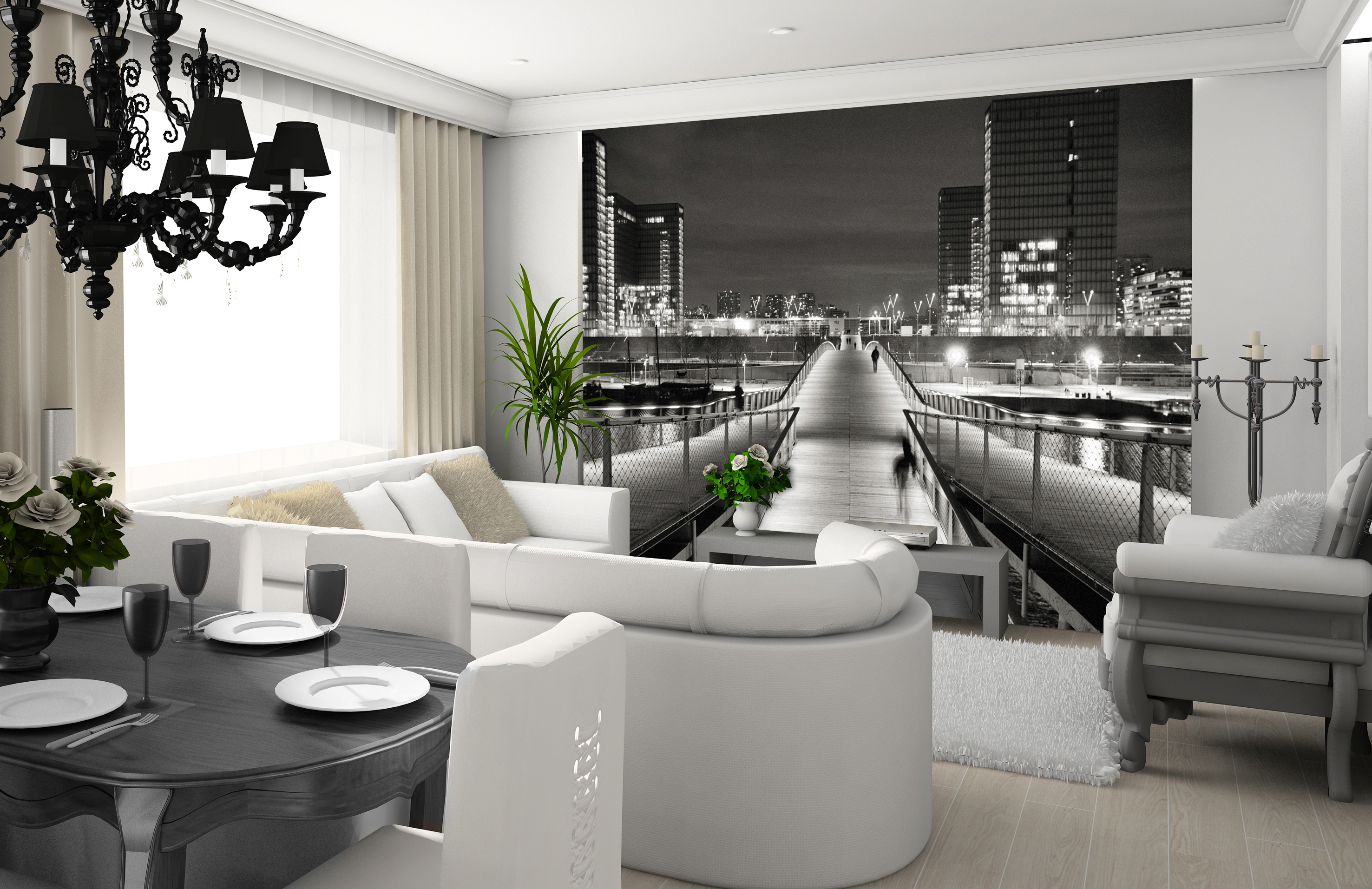 papier peint repositionnable moove paper. Black Bedroom Furniture Sets. Home Design Ideas