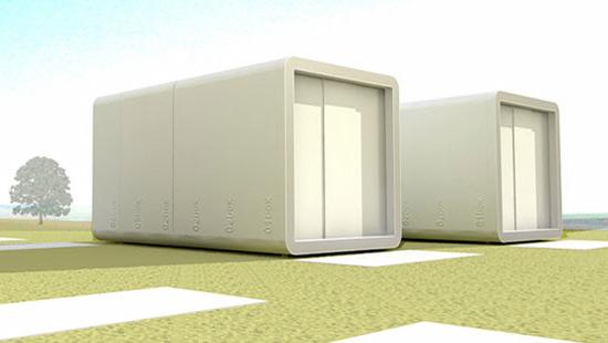 salle de bain pr fabriqu e box en ext rieur. Black Bedroom Furniture Sets. Home Design Ideas