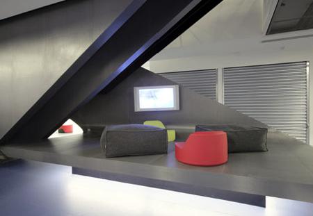 Bureaux Redbull espace lounge