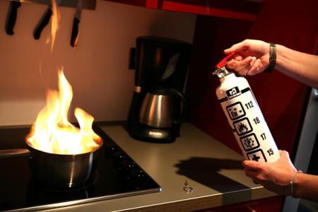 Extincteur deco de cuisine Fire design