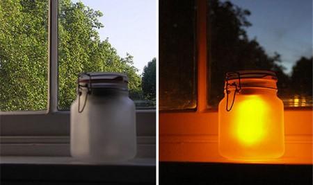 Sun jar éteinte vs Sun jar allumée