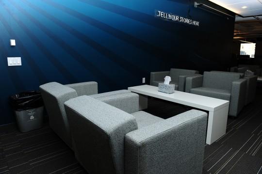 Bureaux Twitter - espace lounge