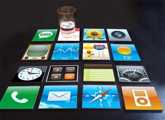Dessous de verre icônes iPhone