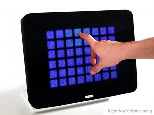 Feel carrés bleus