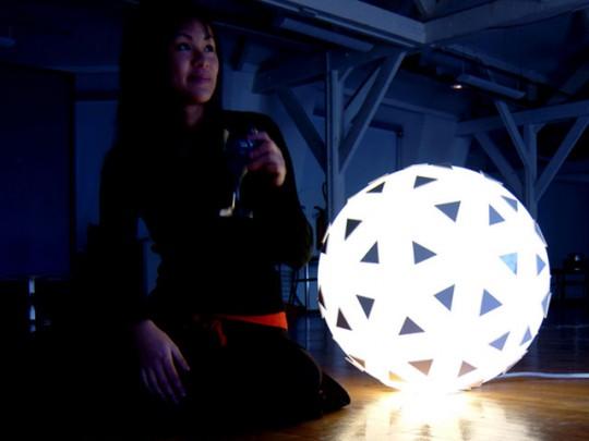 Lampadair, Lampe boule gonflable