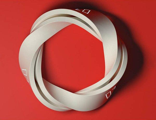 Reveil Design Luxe Anneau Radio-réveil Design