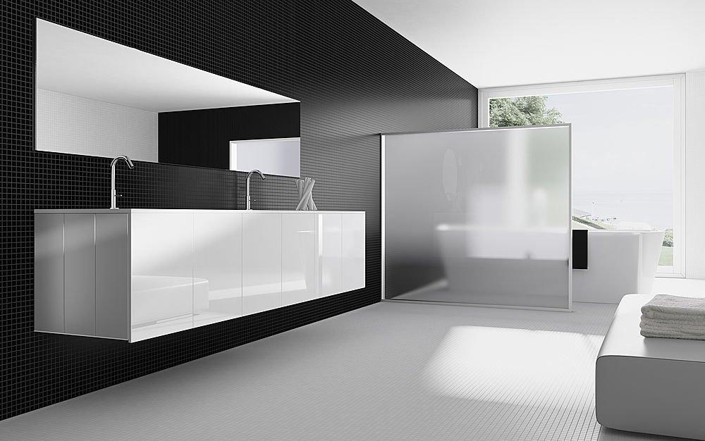 7 for Petite salle de douche noir et blanc