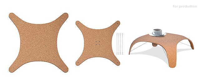 table basse pliable ilo par vincent olm. Black Bedroom Furniture Sets. Home Design Ideas