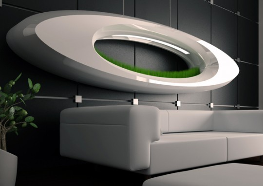 Applique design avec de l'herbe Grass lamp