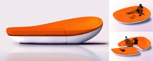 Canapé lounge orange Fragment