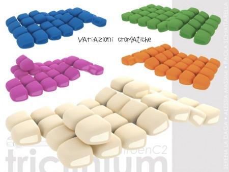 Canapé modulaire Triclinium en couleurs