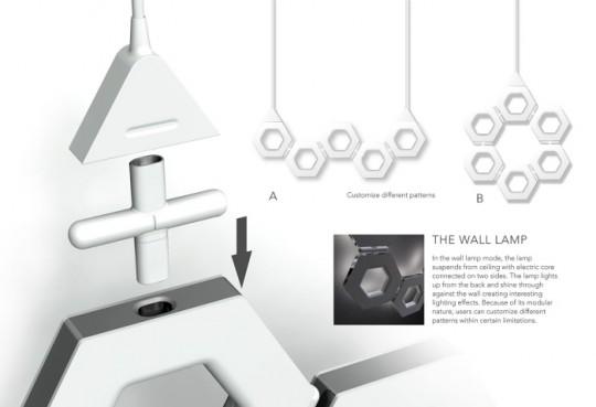 Fixation du système LED tile