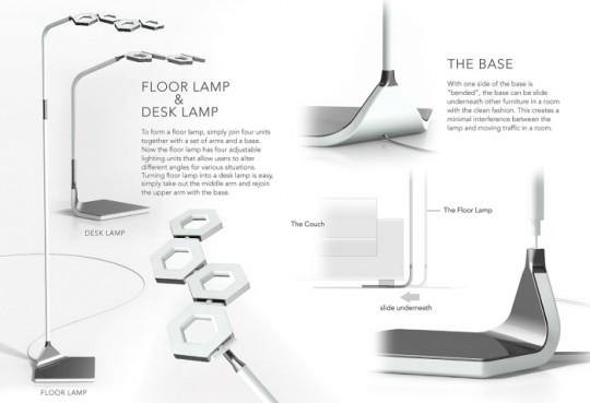 Lampadaire / lampe de bureau Tile