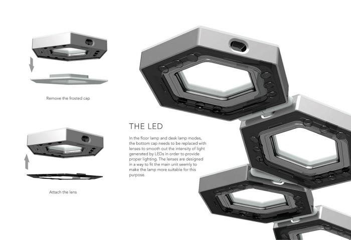 lampadaire futuriste