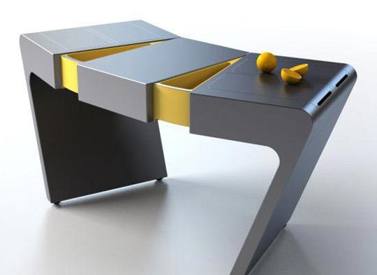 table extensible accordéon