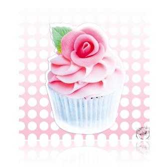 Tableau glace à la fraise rose