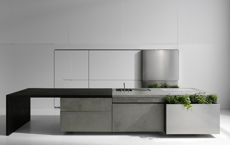 cuisine en b ton steininger. Black Bedroom Furniture Sets. Home Design Ideas