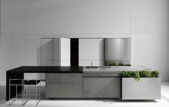 Cuisine en béton design Steininger