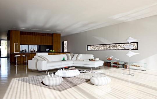 Canapé d'angle composable Discours Roche Bobois