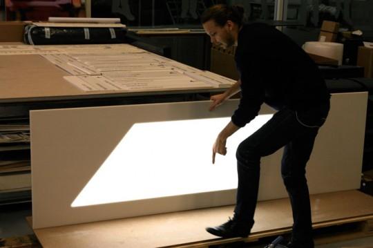 Panneau lumineux simulation fenêtre