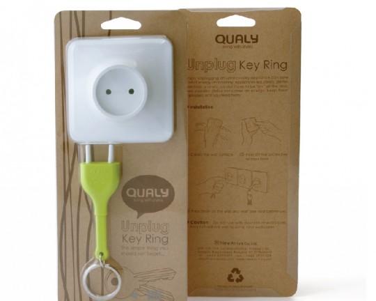 Porte-clés fiche électrique Qualy Unplug