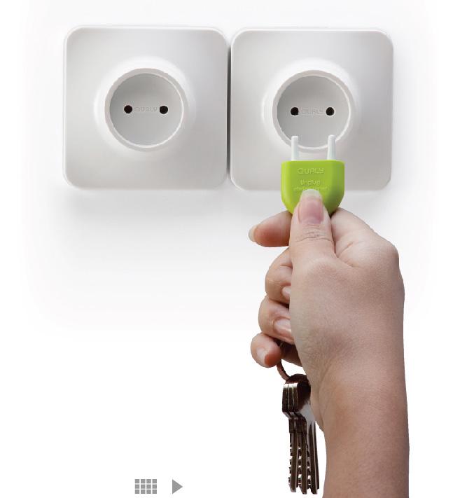 Porte-clés pour prise électrique Unplug key ring