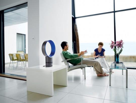 Ventilateur Dyson air multiplier dans un intérieur design