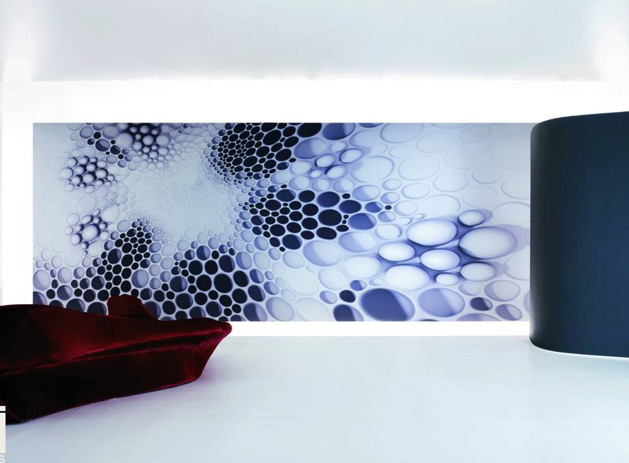 Décoration murale futuriste par Zaha Hadid
