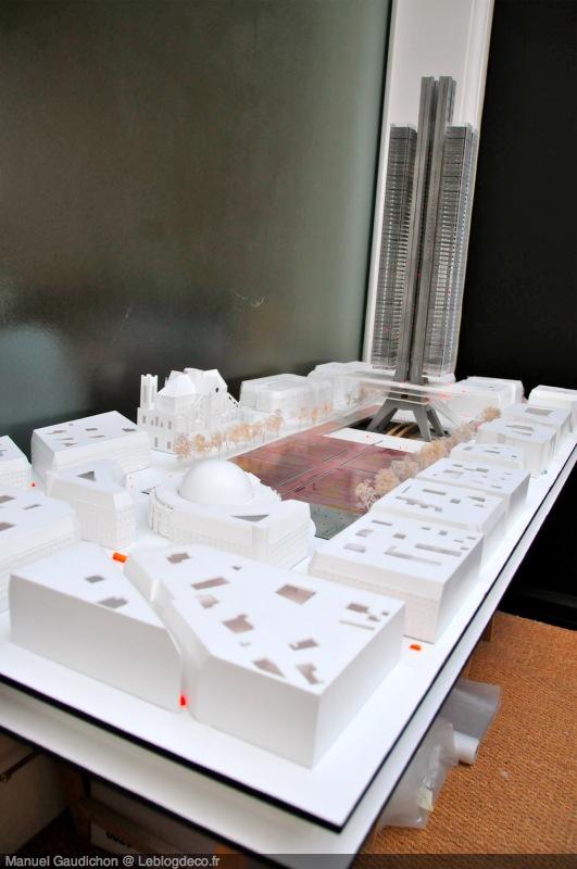 Maquette du projet de Chatelet les halles par Nelson Wilmotte