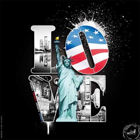 Tableau Love city America