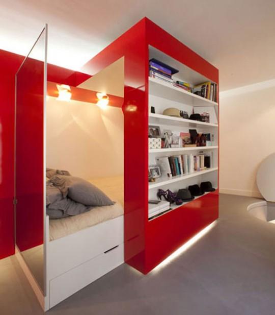 Petit ppartement design à Paris par Paul Coudamy