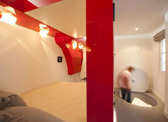 Accès sous-sol appartement Red Nest