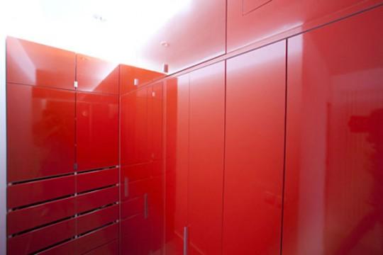 Dressing rouge laqué brillant - Red Nest