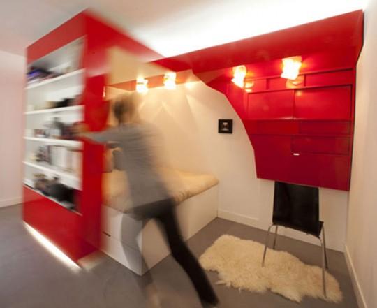 Meuble cloison mobile spécial petit appartement