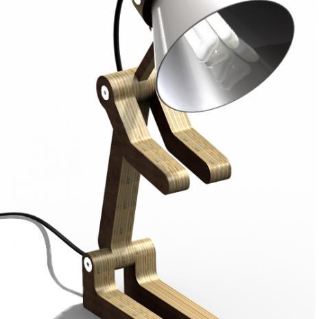 Waaf, la lampe en bois en forme de chien