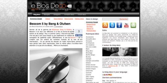 Le blog déco V2