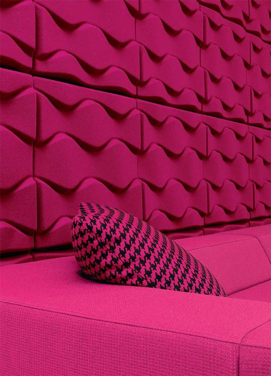 panneau acoustique design soundwave by karim rashid. Black Bedroom Furniture Sets. Home Design Ideas