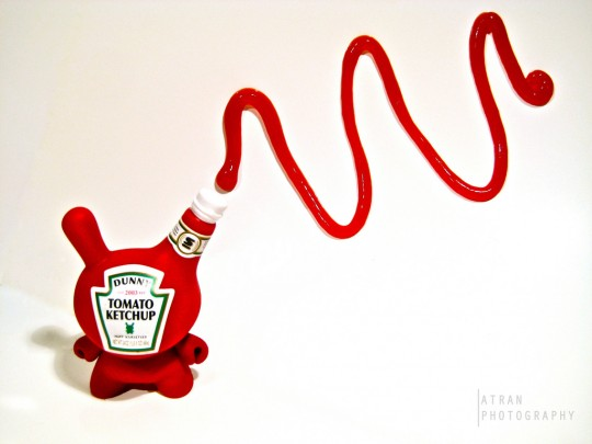 Art toy Dunny ketchup Heinz