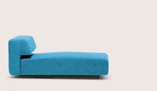 Canapé design bleu asymétrique Cor Cosma