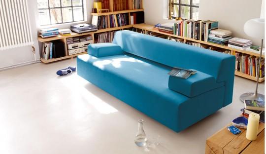 Canapé design bleu Cor Cosma