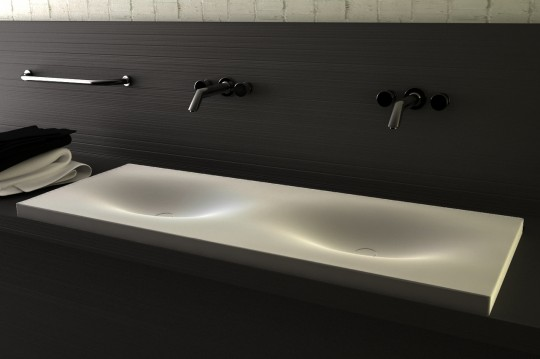 Double vasque en corian design Vaskeo